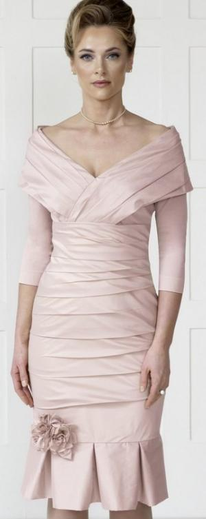 92d89f9d3ccd Style IR3022 Romantic look stretch taffeta dress with flippy hem in blossom  also available in platinum £559